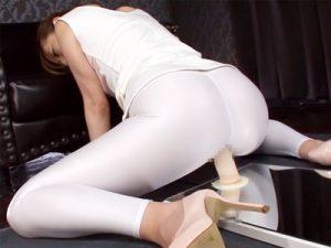 【巨乳オナニー動画】むっちり下半身を締め付けるスパッツを履いた巨乳ギャルがディルド使って腰振りオナニーww