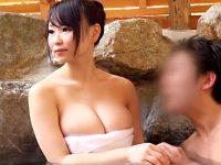 【吉永あかねおまんこ動画】混浴露天風呂で彼氏より大きい勃起チンポを見せつけて巨乳ギャルを一本釣りww