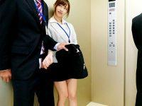 【天使もえフェラチオ動画】精子を溜め込んだ男ばかりをエレベーター内で狙って即フェラするビッチOLww