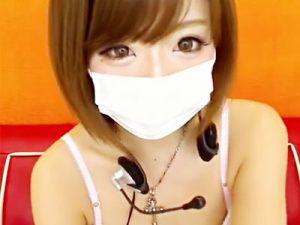 【ライブチャット動画】メイクバッチリの可愛すぎるショートカットギャルが電マで即イキオナニーww