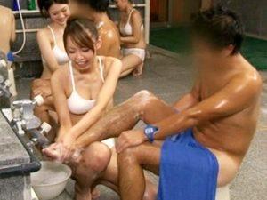 【マッサージおまんこ動画】露出ギリギリのサウナレディが洗体から性処理まで担当する違法な店が存在したww